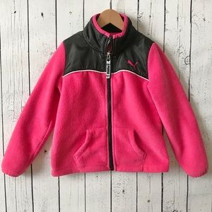 ❤️Size 4 pink & black Puma jacket!